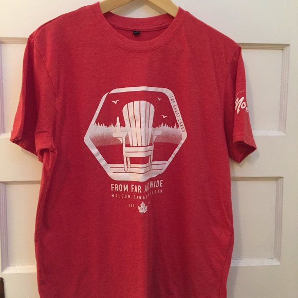 Red Molson t-shirt size L
